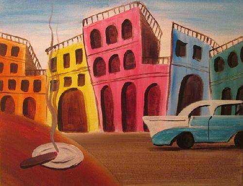 A Old Havana paint nite project by Yaymaker