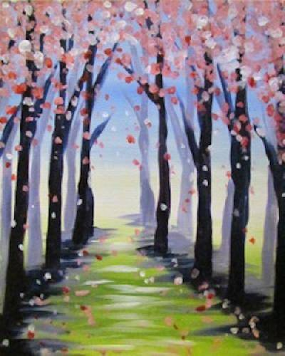 A Spring Path paint nite project by Yaymaker