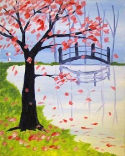 A Bridge in the Spring paint nite project by Yaymaker