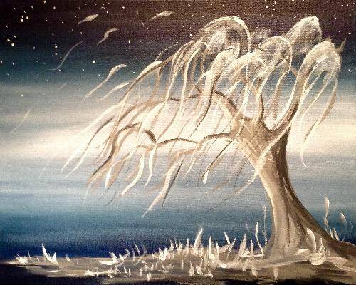 A The Weeping Willow paint nite project by Yaymaker