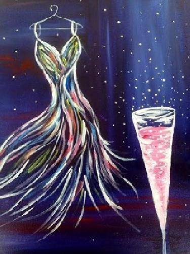 A Fashionably Late paint nite project by Yaymaker