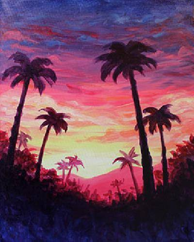 A Palm Paradise paint nite project by Yaymaker