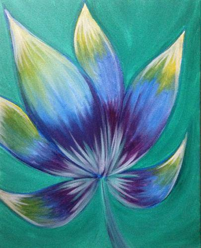 A Green Lotus paint nite project by Yaymaker
