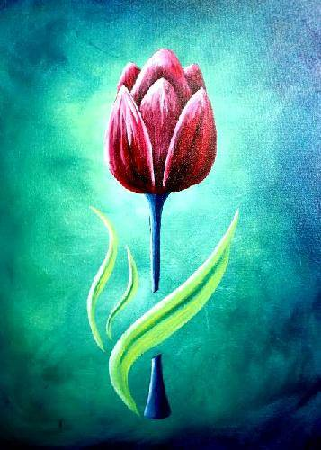 A Spring Tulip paint nite project by Yaymaker
