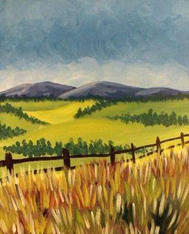 A Irish Countryside paint nite project by Yaymaker