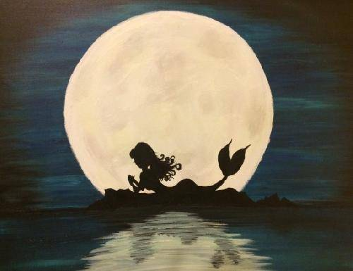 A Mermaid Tale paint nite project by Yaymaker