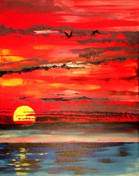 A Tequila Sky paint nite project by Yaymaker