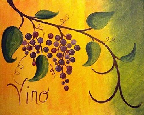 A Zinfandel paint nite project by Yaymaker