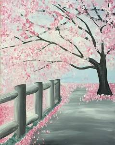 A Spring Fling paint nite project by Yaymaker