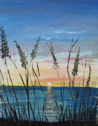 A Morning Sun paint nite project by Yaymaker