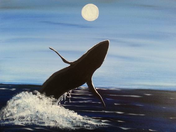 A Whale Of A Breach paint nite project by Yaymaker