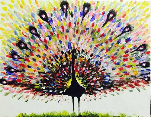 A Proud Peacock paint nite project by Yaymaker