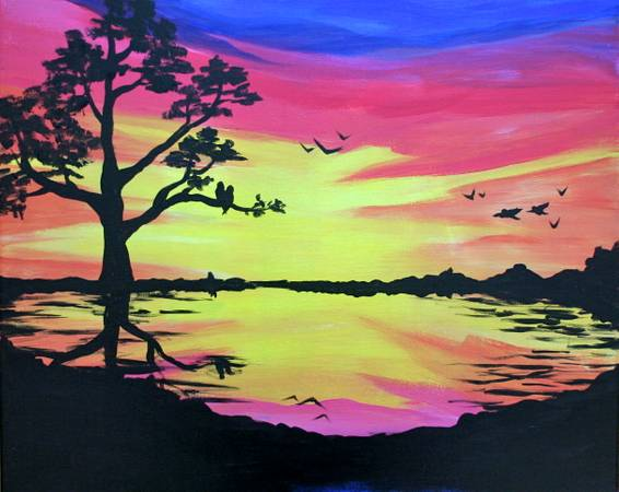 A Bold Birdies paint nite project by Yaymaker