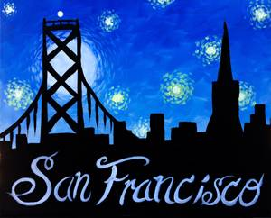 A Starring San Francisco paint nite project by Yaymaker