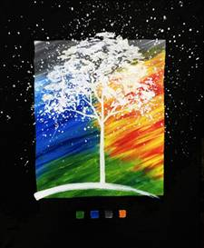 A Earth Water Wind Fire paint nite project by Yaymaker