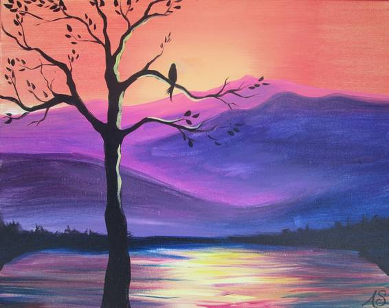 A Are You Lonesome Tonight paint nite project by Yaymaker