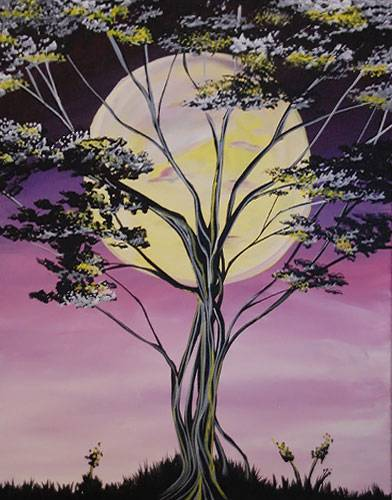 A Moonlight Tree paint nite project by Yaymaker