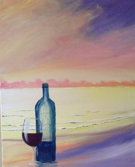 A I Need a Drink paint nite project by Yaymaker