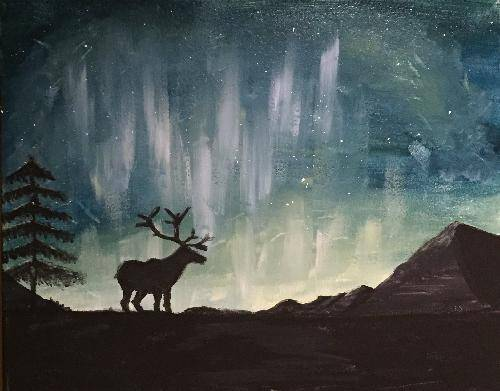 A Wild Alaska paint nite project by Yaymaker