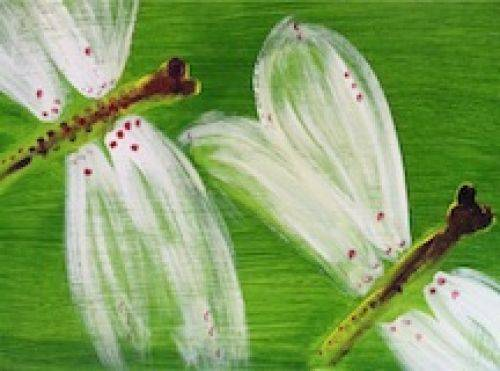 A Dragonfly Couple paint nite project by Yaymaker
