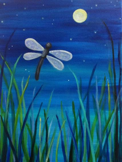 A Dragonfly paint nite project by Yaymaker