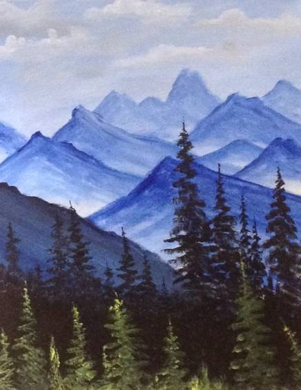 A Blue Mountains paint nite project by Yaymaker
