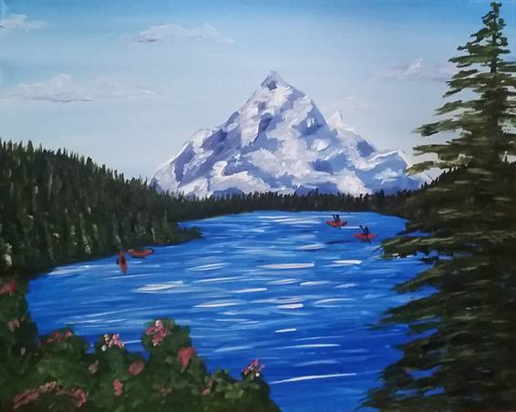 A Lost Lake paint nite project by Yaymaker