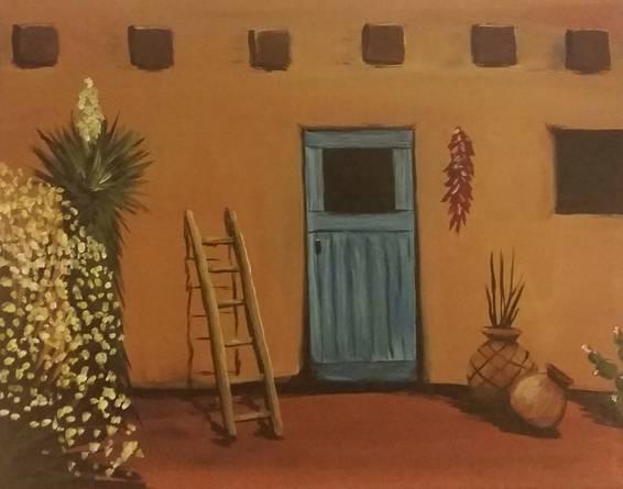 A Southwest Pueblo paint nite project by Yaymaker