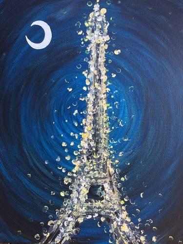 A Celebrate Paris paint nite project by Yaymaker
