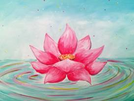 A Water Lotus paint nite project by Yaymaker