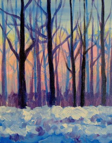 A Late Winter Afternoon paint nite project by Yaymaker