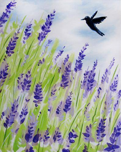 A Humming Around the Lavenders paint nite project by Yaymaker