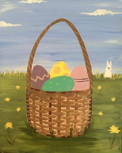 A Easter Basket paint nite project by Yaymaker