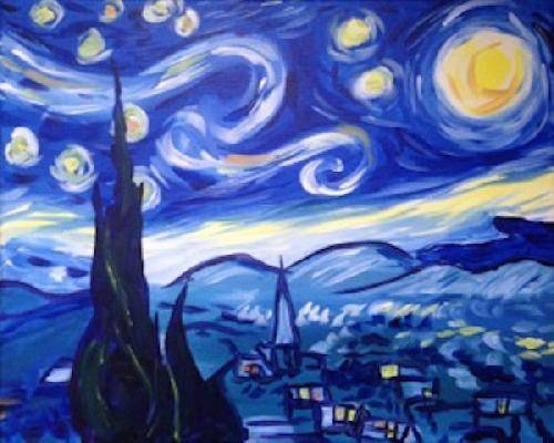 A Starry Nite paint nite project by Yaymaker