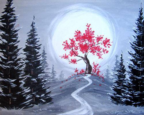 A The Happy Tree paint nite project by Yaymaker