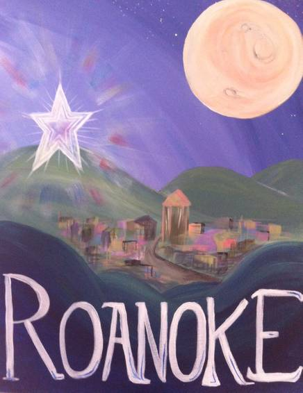 A Hometown Roanoke paint nite project by Yaymaker