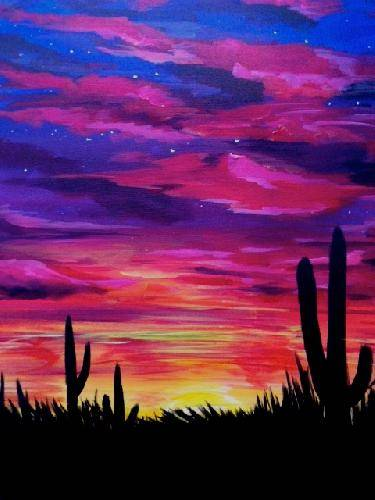 A Southwest Sky paint nite project by Yaymaker