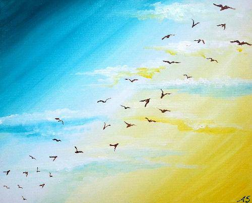 A Bright Flight paint nite project by Yaymaker
