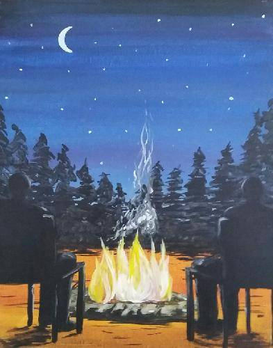 A Campfire Bliss paint nite project by Yaymaker
