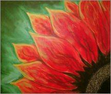 A Sun Flower 1 paint nite project by Yaymaker