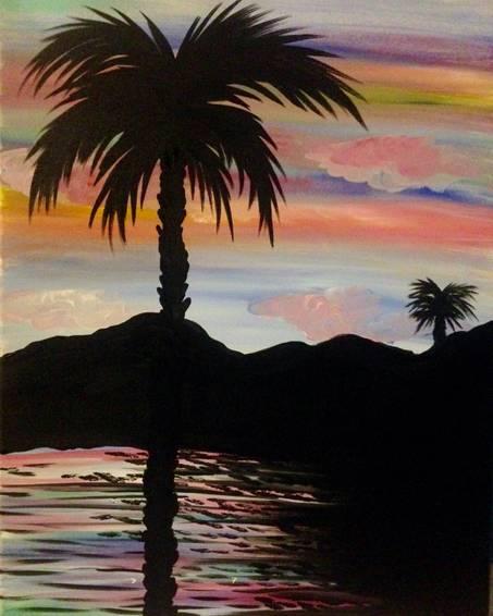 A Palm Desert Beauty paint nite project by Yaymaker