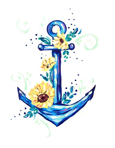 A Anchor with Sunflowers experience project by Yaymaker