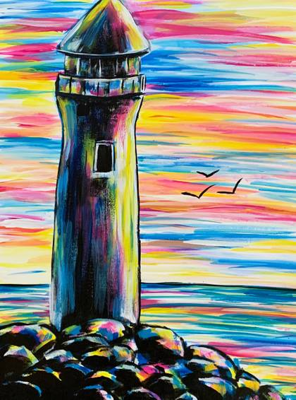A Lighthouse Sunset experience project by Yaymaker