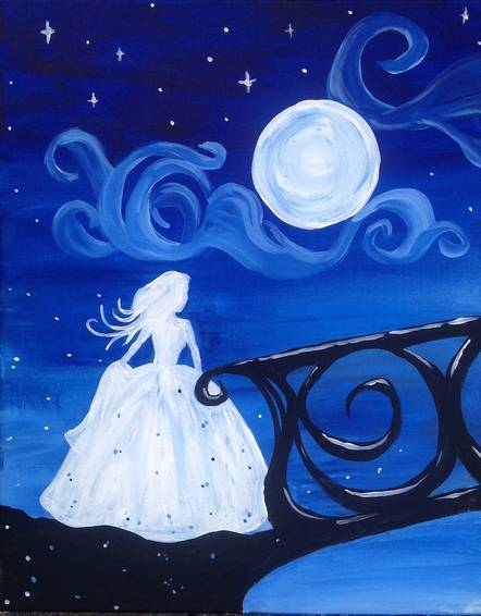 A Once Upon a Dream paint nite project by Yaymaker