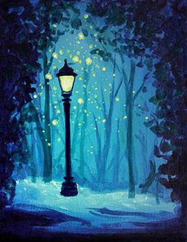 A Magical Lamp Post paint nite project by Yaymaker