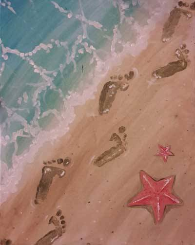 A Foot Steps paint nite project by Yaymaker