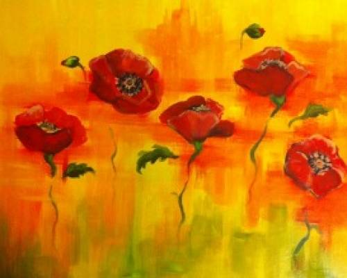 A Red Poppies paint nite project by Yaymaker