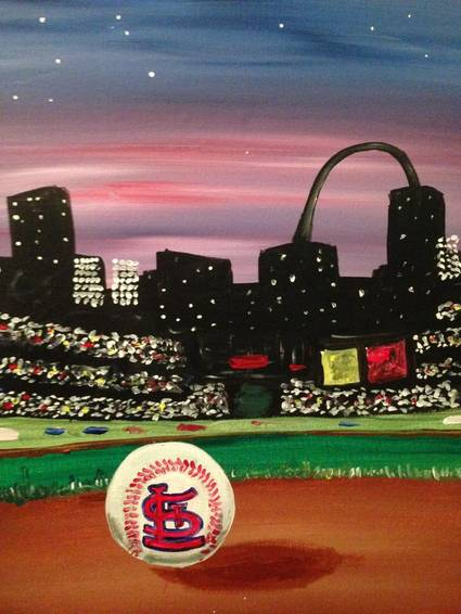 A St Louis Cardinals paint nite project by Yaymaker