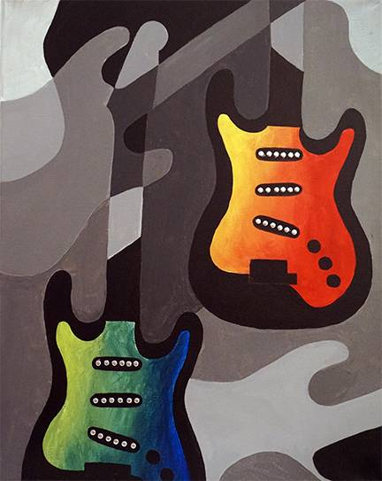 A I Love Rock n Roll paint nite project by Yaymaker