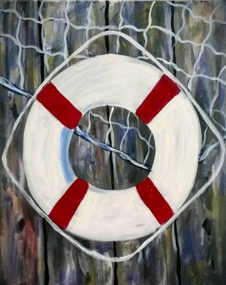 A New England Raft paint nite project by Yaymaker
